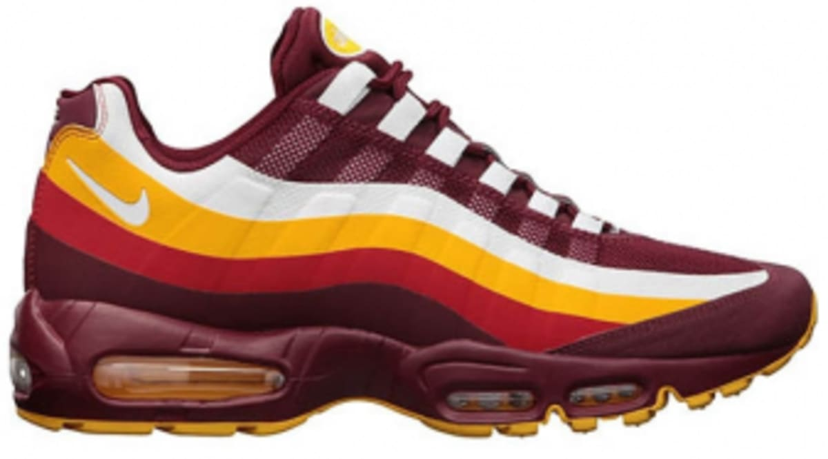 b07676f9ac90 Nike Air Max 95 No-Sew - Washington Redskins