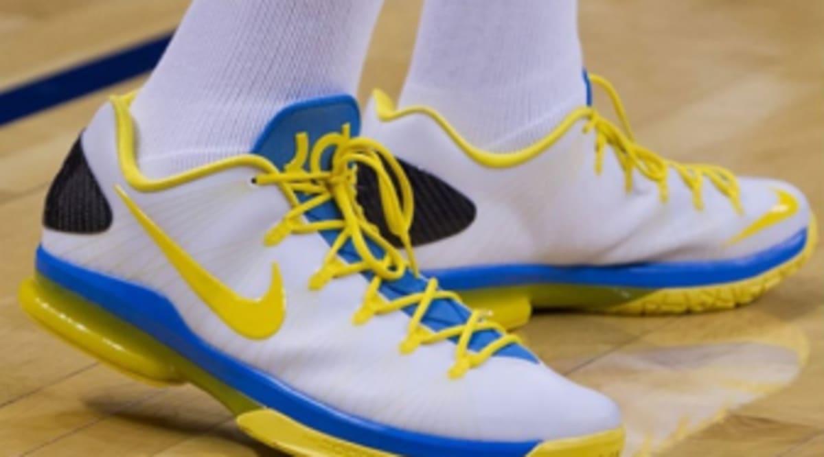 889151bd0fab Nike KD V Elite - White Yellow-Blue