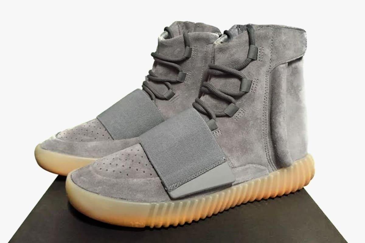 Authentic Adidas Yeezy 750 Boost Grey Gum Glow