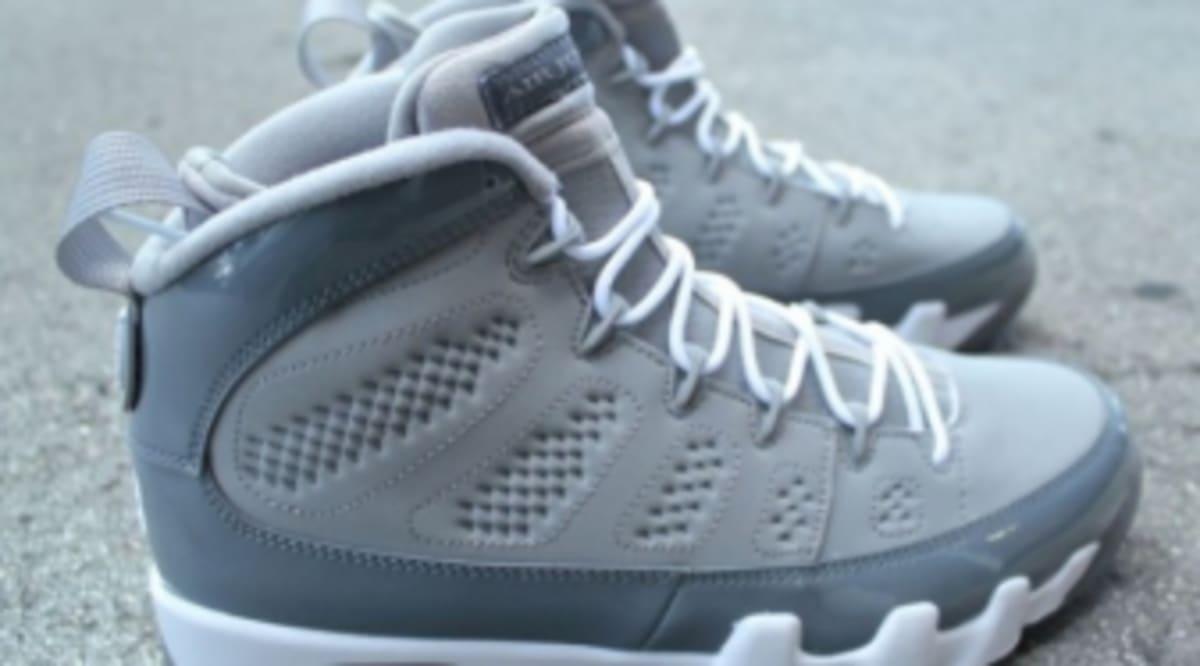 sale retailer fb408 bb7b6 Air Jordan 9 Retro - Cool Grey - Detailed Look