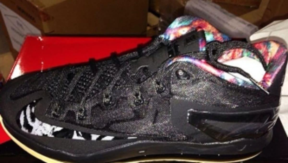 49b03b0a797 Release Date  Nike LeBron 11 Low - Black Black-Hyper Crimson-Hyper Cobalt