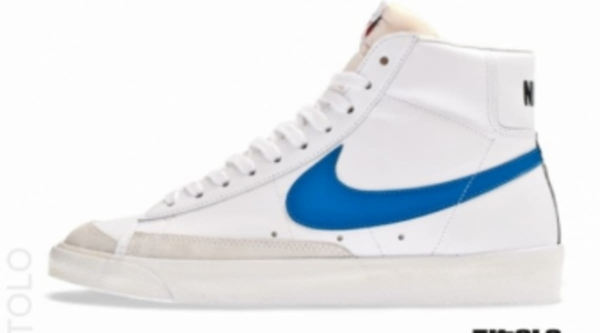 separation shoes d32c8 bb714 purchase nike blazer mid 77 premium white blue sole collector 53793 bde8e