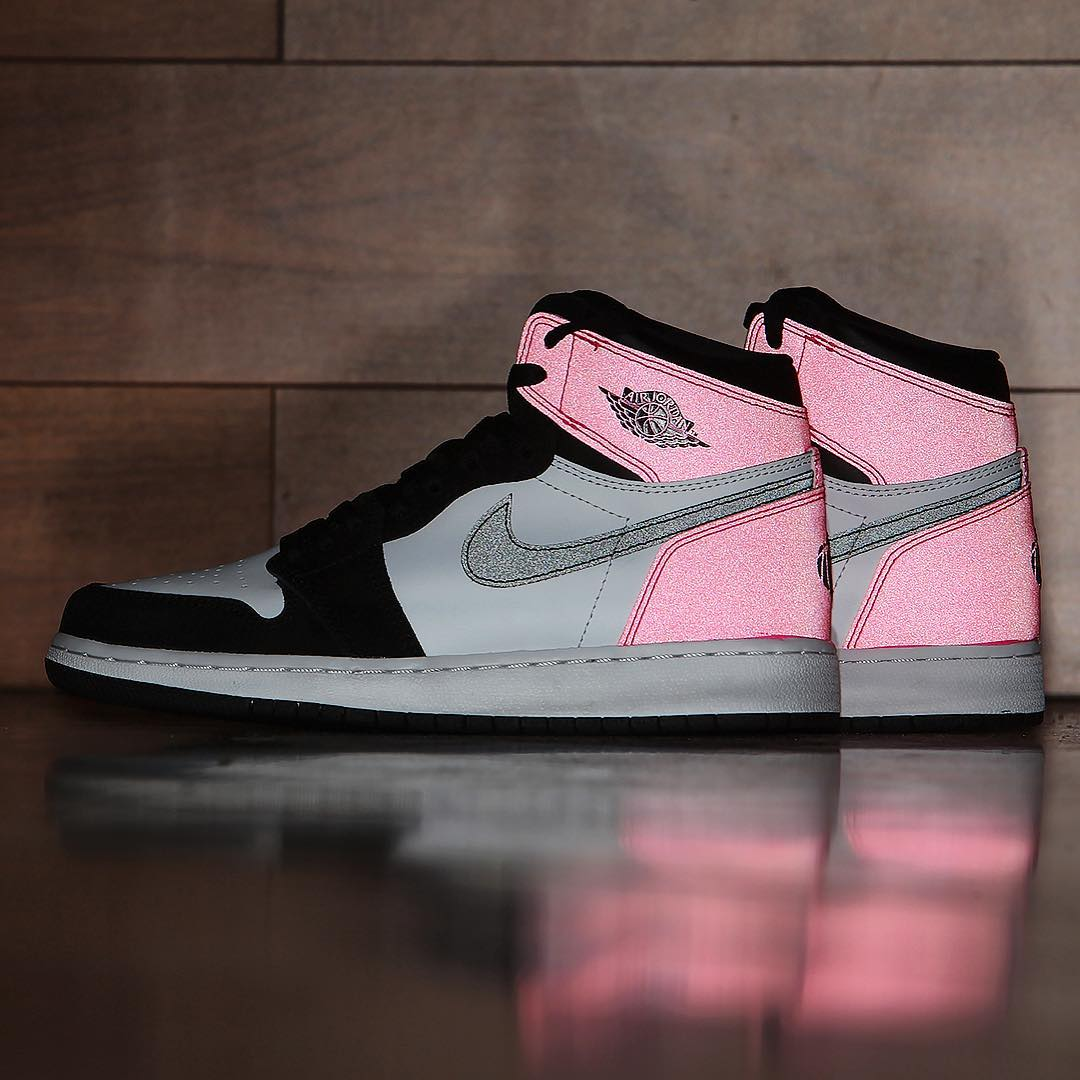 Air Jordan 1 Valentine's Day Black Pink Release Date 3M 881426-009 (9)