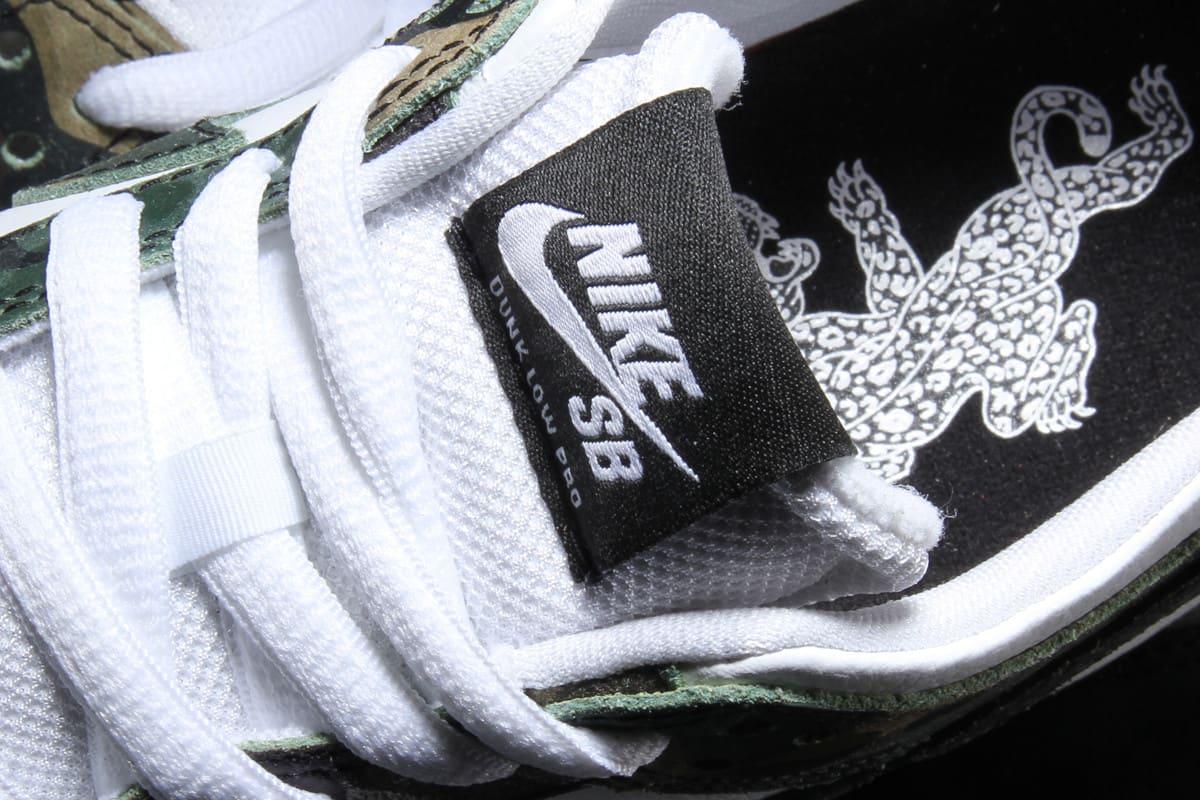 Ishod Wair Camo Nike SB Dunk 854866-331 Tongue