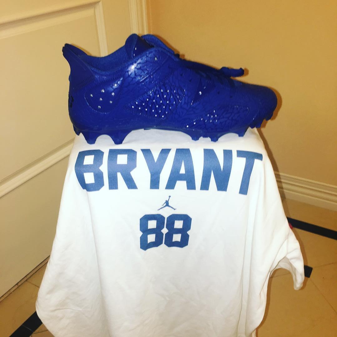 Dez Bryant Air Jordan 6 Low Blue Elephant Pro Bowl Cleats