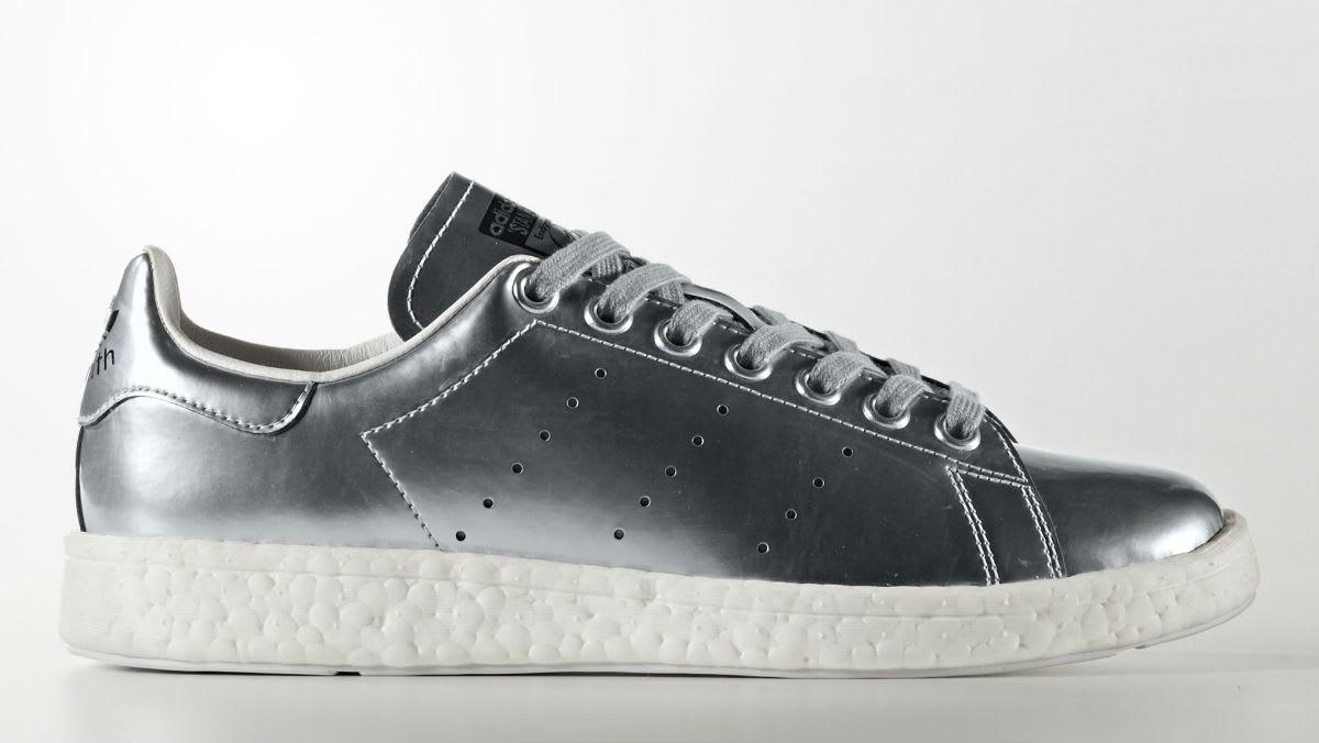 Adidas Stan Smith Boost Silver Profile BB0108