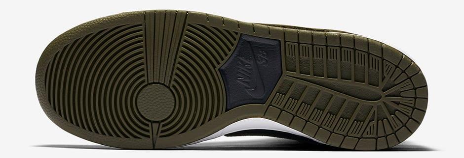 "Nike SB Dunk High ""Medium Olive"" bottom"