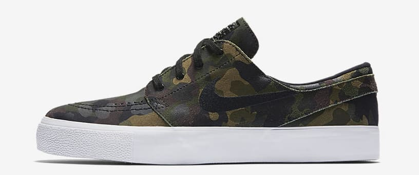 "Nike SB Zoom Stefan Janoski ""Green Camo"" profile"