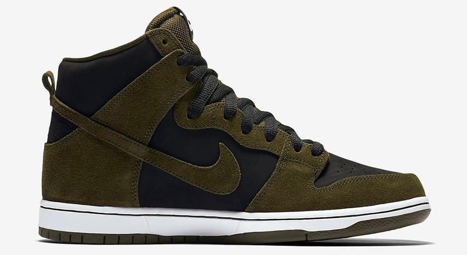 "Nike SB Dunk High ""Medium Olive"" medial"