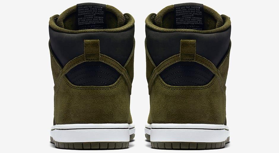 "Nike SB Dunk High ""Medium Olive"" heels"
