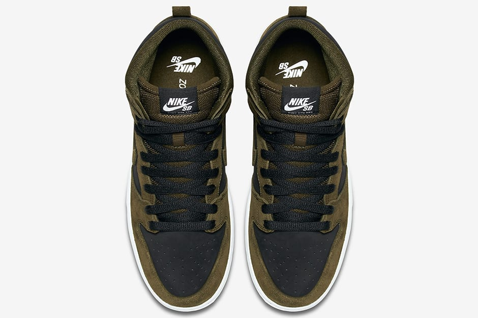 "Nike SB Dunk High ""Medium Olive"" top"