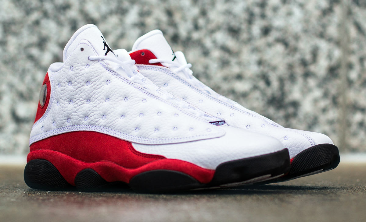 Air Jordan 13 White Red Cherry Release Date Front 414571-122