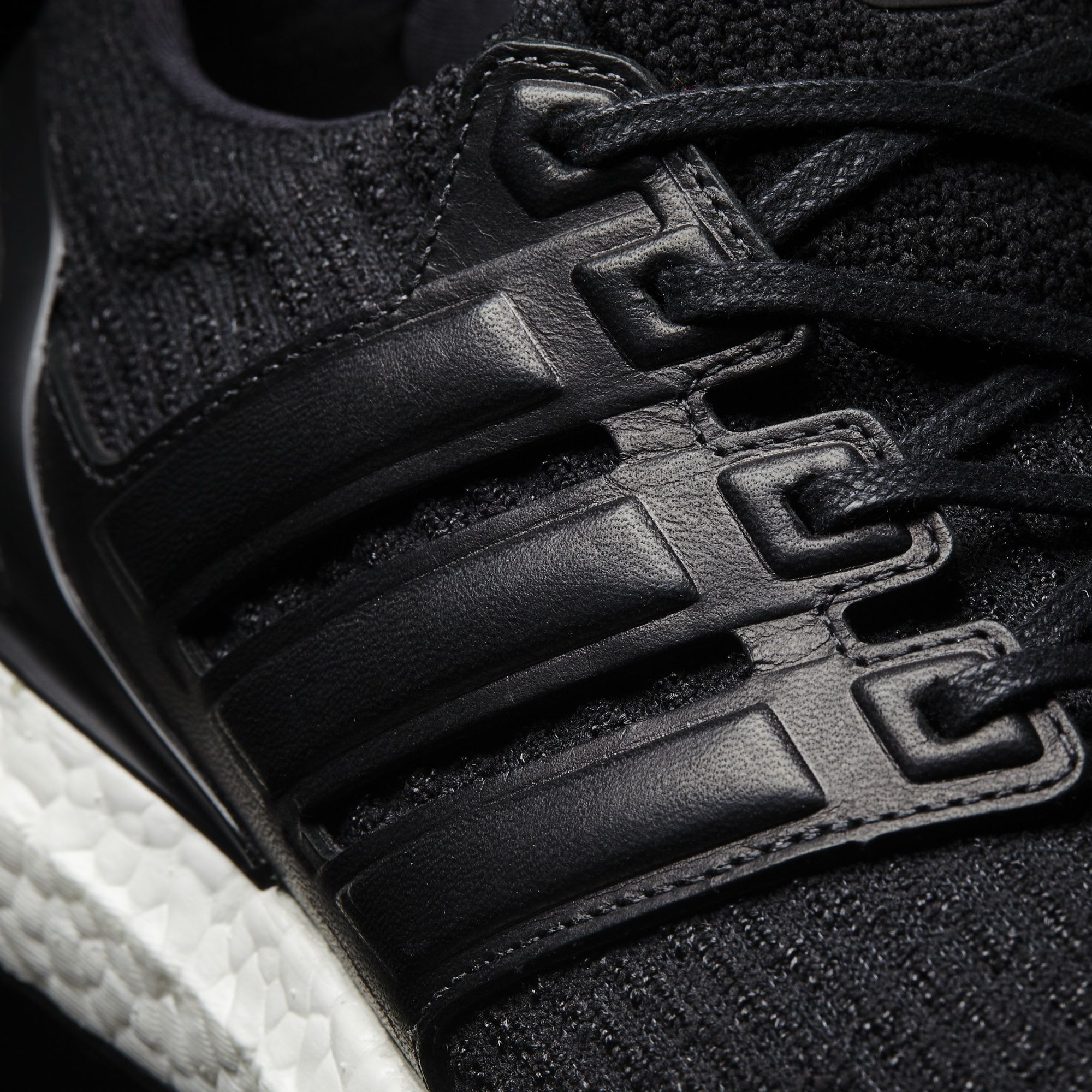 reputable site 7e623 019fc Image via Adidas Black Adidas Ultra Boost Leather Cage BA8924 Detail