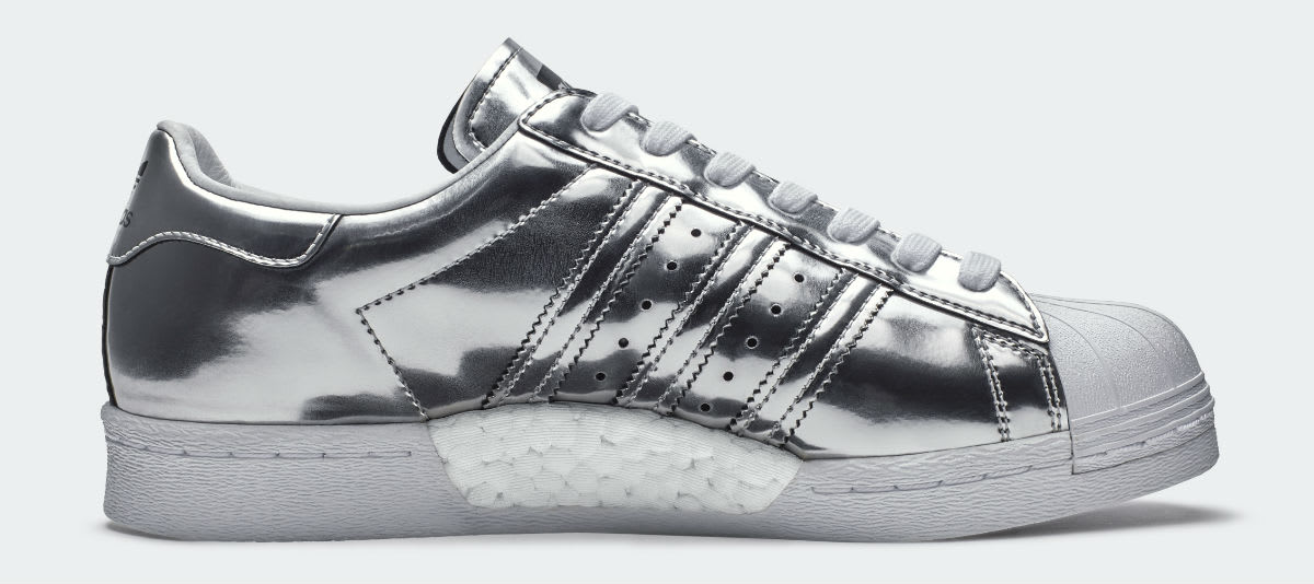 Adidas Superstar Boost Womens Silver Release Date Medial BB2271