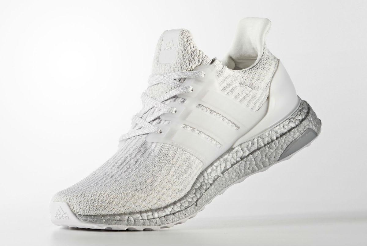 38b36c2278b53 Adidas Ultra Boost 3.0 White Silver Release Date BA8922