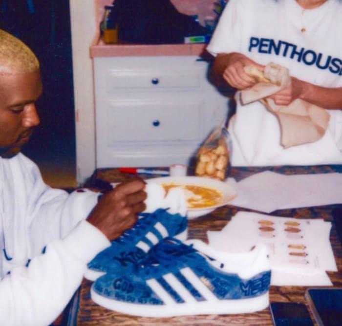 Kanye West Kim Kardashian Adidas Gazelle