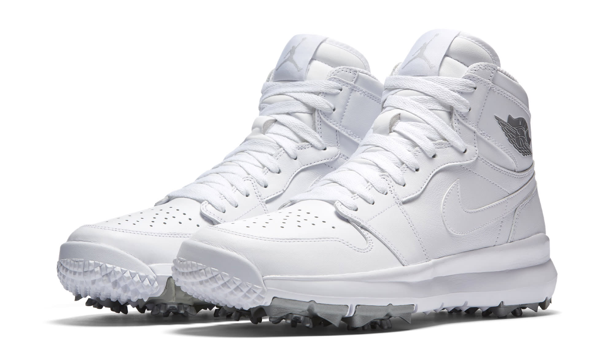 2bfa7db0c Image via Nike White Air Jordan 1 Golf