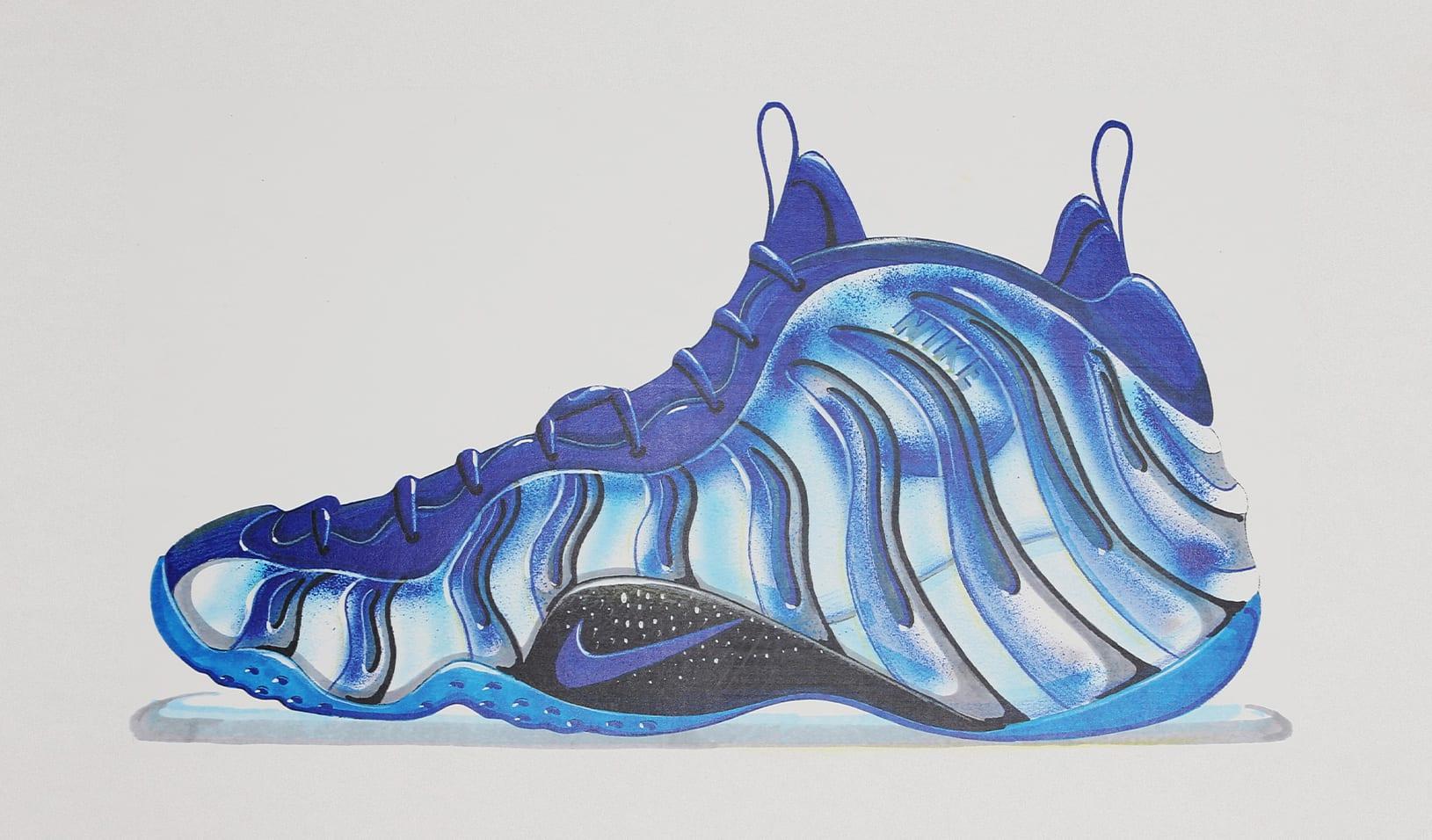 finest selection 05374 77e5b Nike Foamposite Sketch
