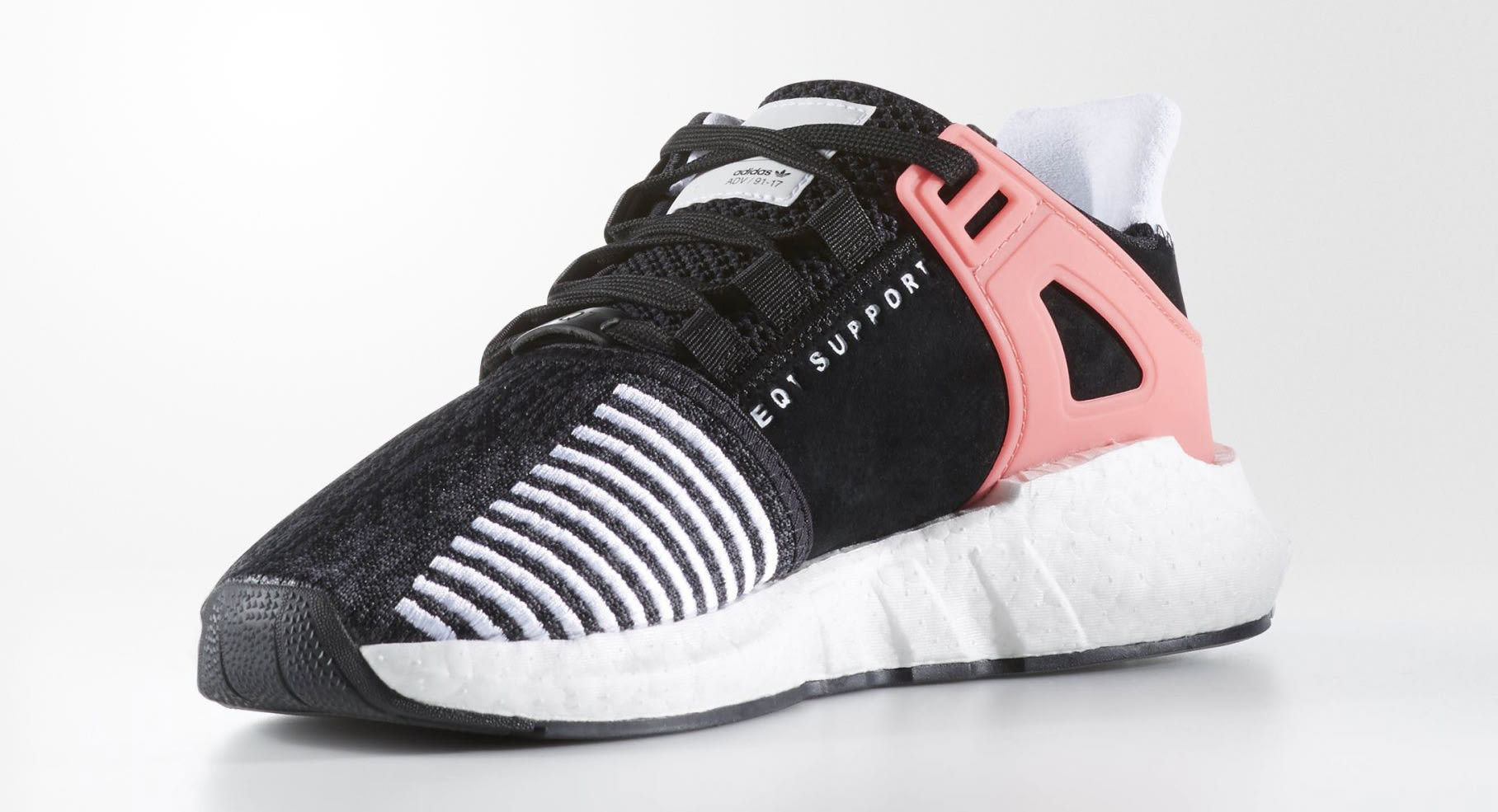 adidas eqt support 93 17 black pink sole collector. Black Bedroom Furniture Sets. Home Design Ideas