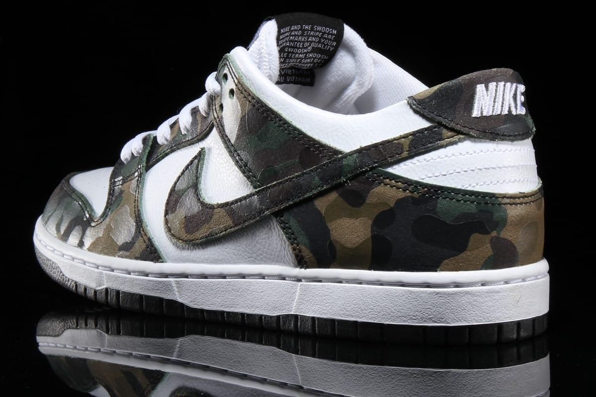 Ishod Wair Camo Nike SB Dunk 854866-331 Heel