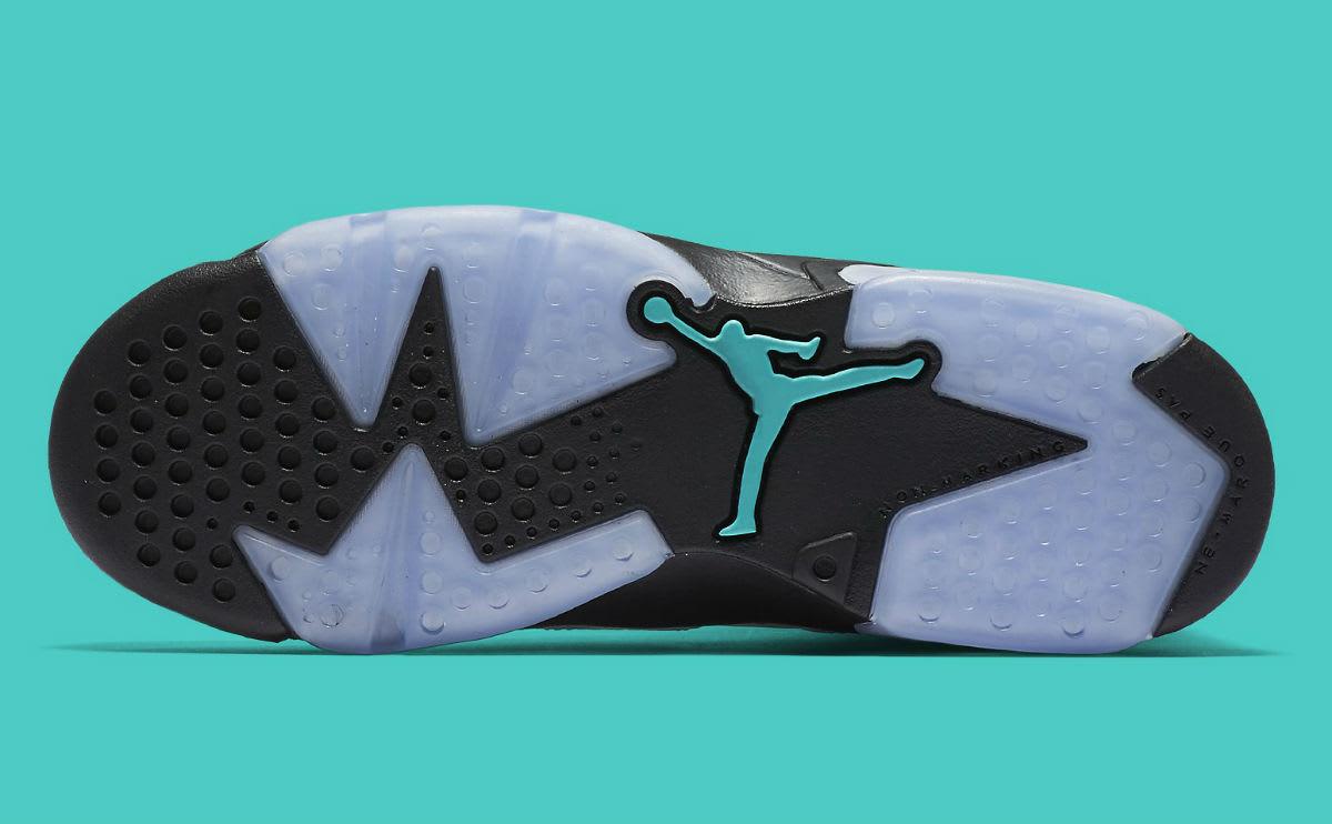 Air Jordan 6 GS White Black Jade Sole 384665-122