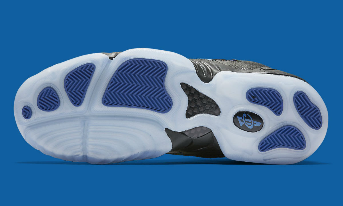 Nike Air Penny 4 Black/Blue Release Date Sole 864018-001
