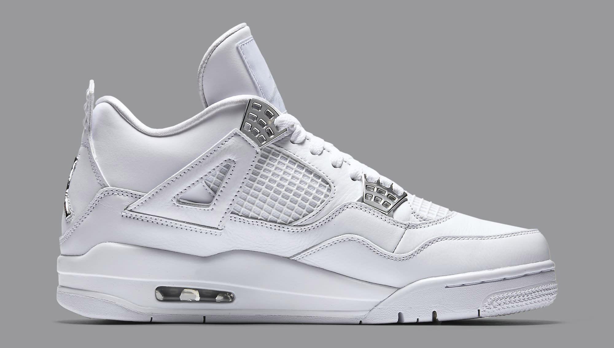 a6df232de8fbfe Image via Nike Pure Money Air Jordan 4 308497-100 Medial