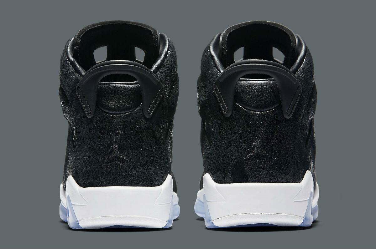 Air Jordan 6 Heiress Black Suede Release Date Heel 881430-029