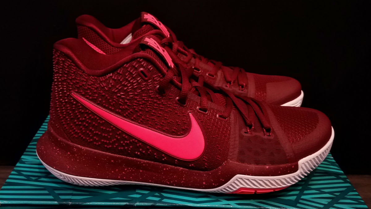 7795e6a301c5 Nike Kyrie 3 Team Red Total Crimson Release Date Right 852395-681 ...