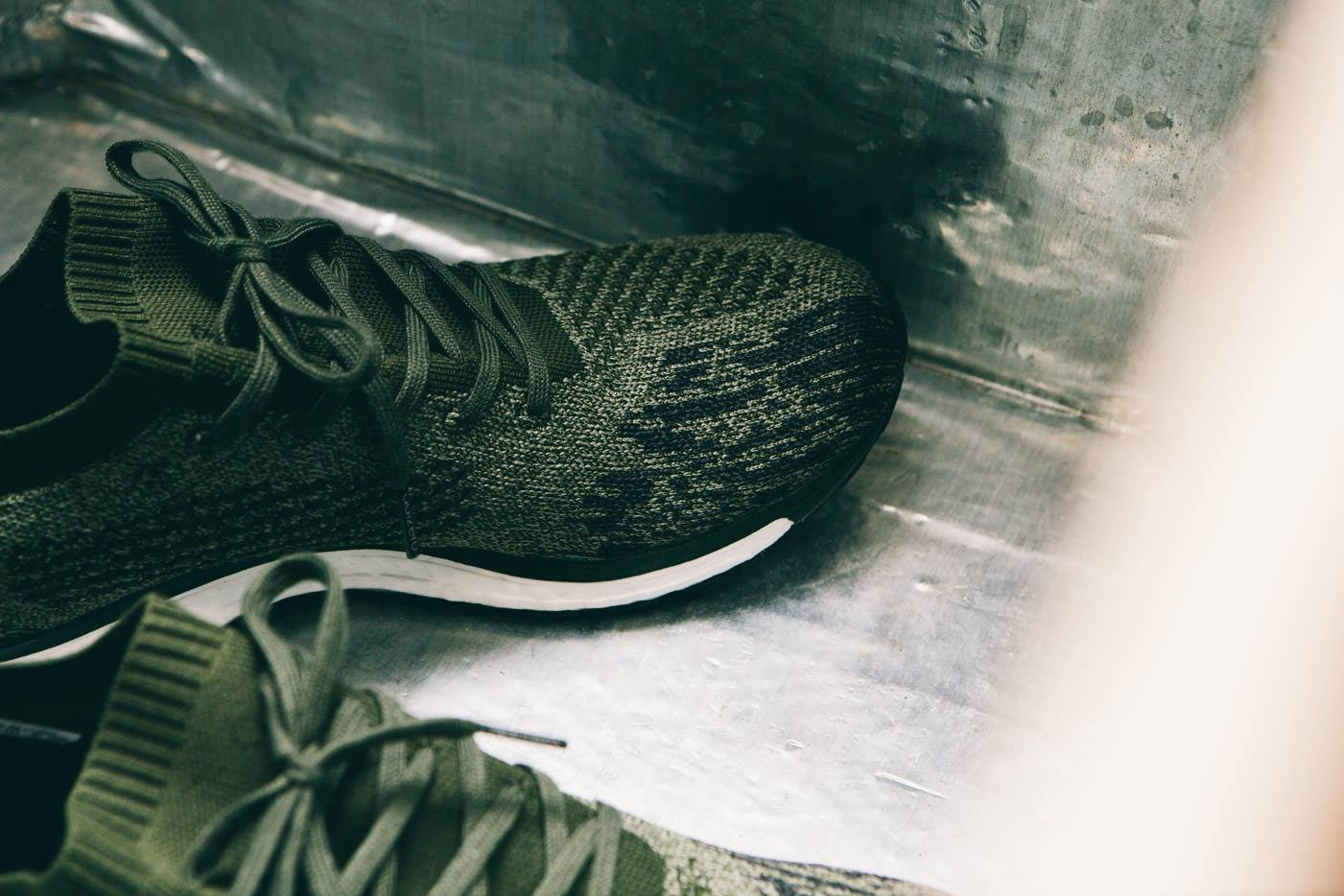 premium selection 3d7d6 1e786 Image via Up There Store Adidas Adizero Prime Boost Olive Earth Detail