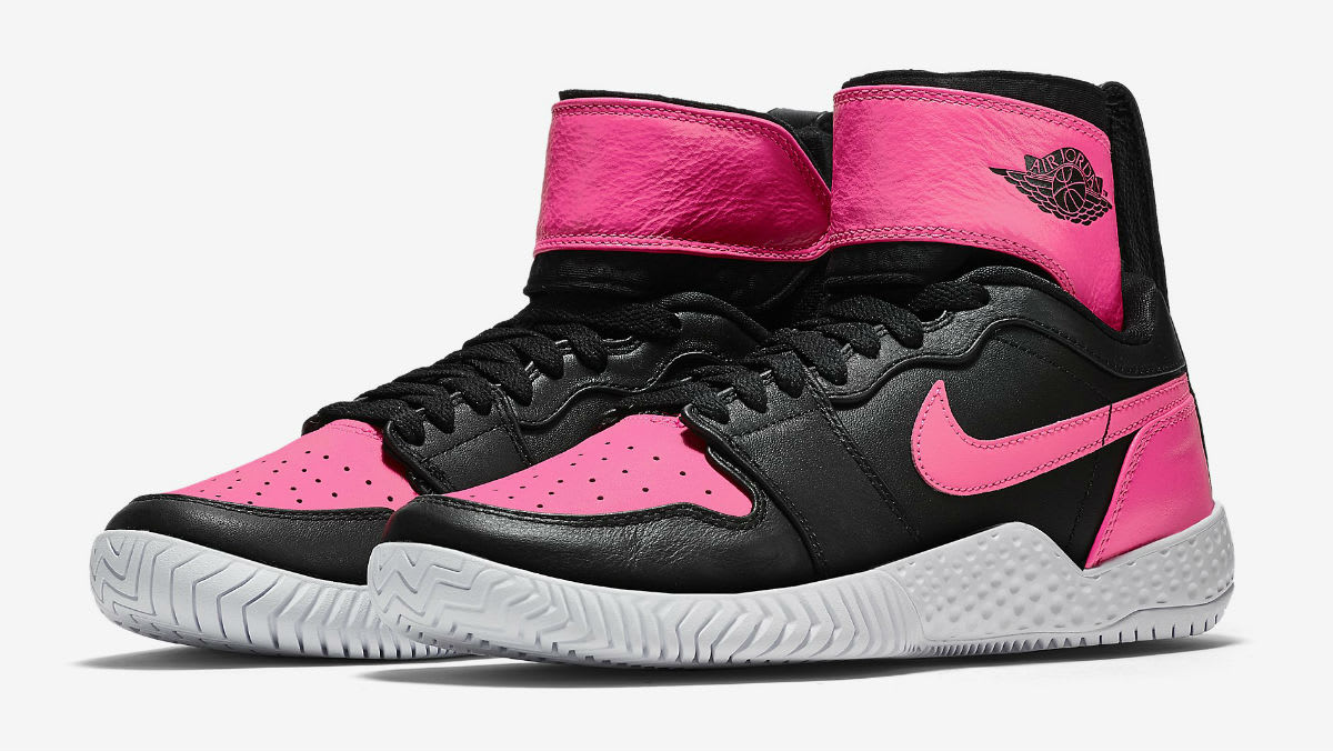 Serena Williams NikeCourt Flare AJ1 Pink Release Date Main 878458-006