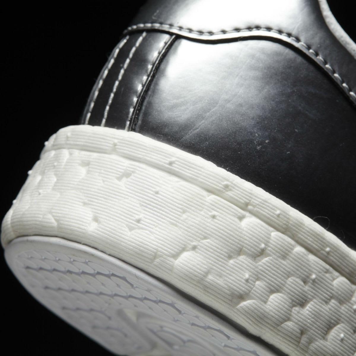 Adidas Stan Smith Boost Silver Heel BB0108