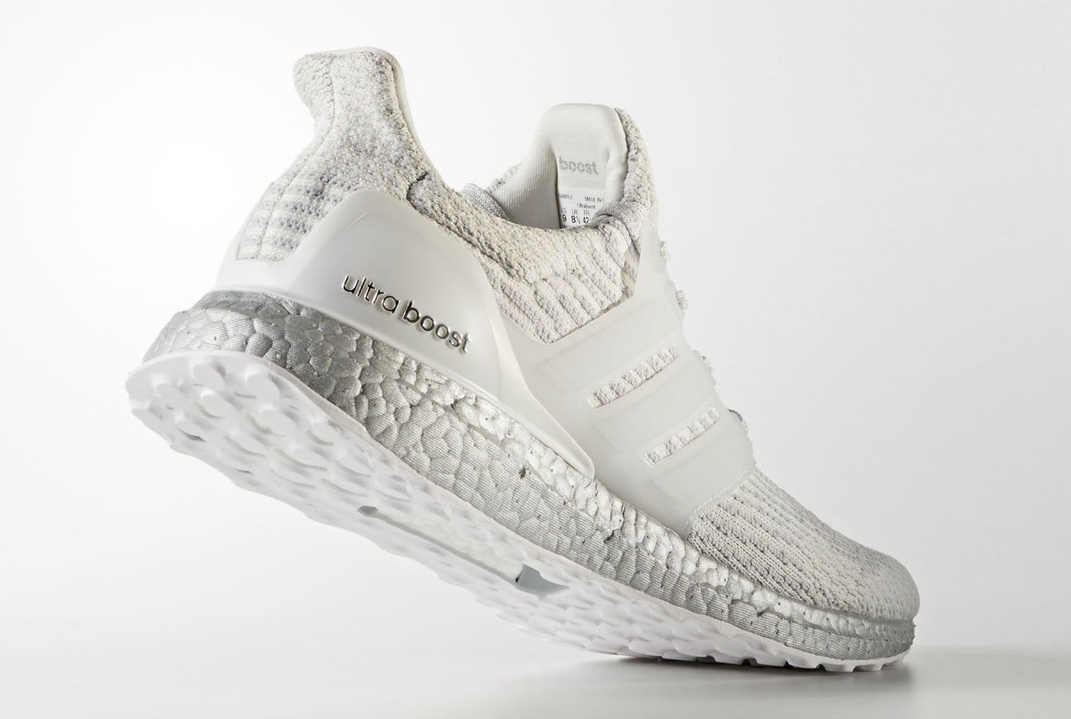 Adidas Ultra Boost 3.0 White/Silver Lateral BA8922