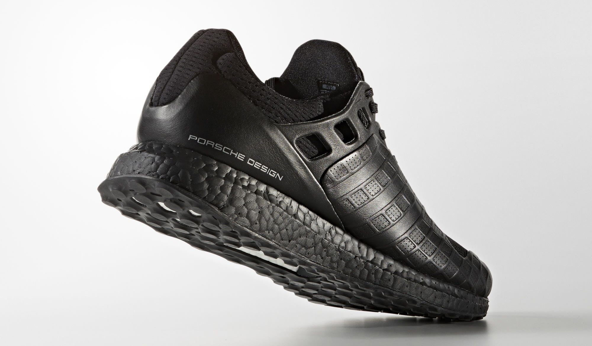 Triple Black Porsche Adidas Ulta Boost BB5537 Heel
