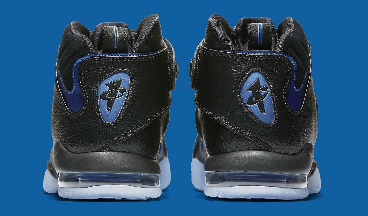 Nike Air Penny 4 Black/Blue Release Date Heel 864018-001