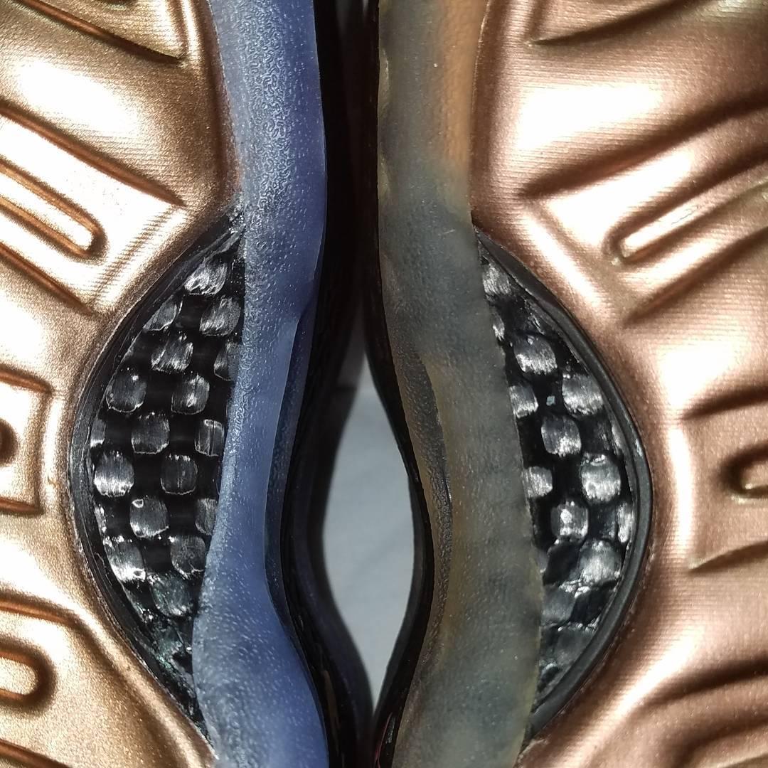 Nike Foamposite Copper 2017 vs. 2010 Comparison (8)