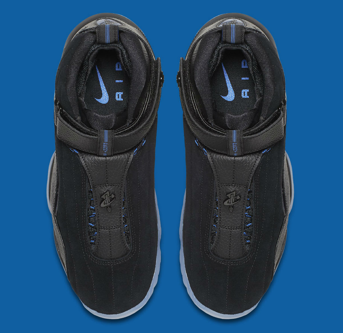 Nike Air Penny 4 Black/Blue Release Date Top 864018-001