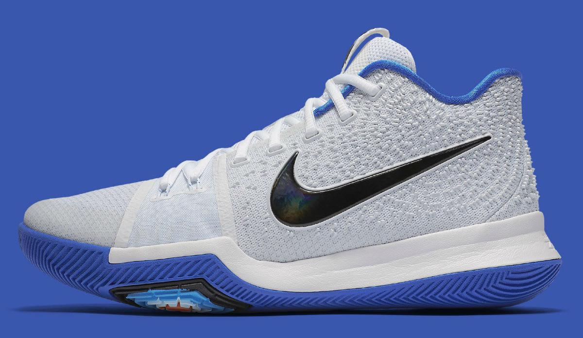 timeless design e6b1f 85b94 Nike Kyrie 3 Hyper Cobalt Duke Release Date Profile 852395-102