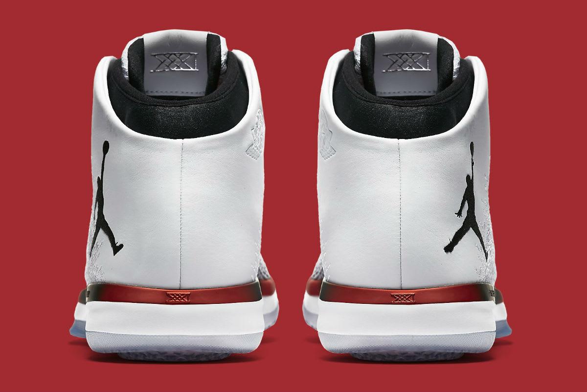 f74c12ef65d5 Air Jordan 31 Bulls White Black Red Release Date Heel 845037-108