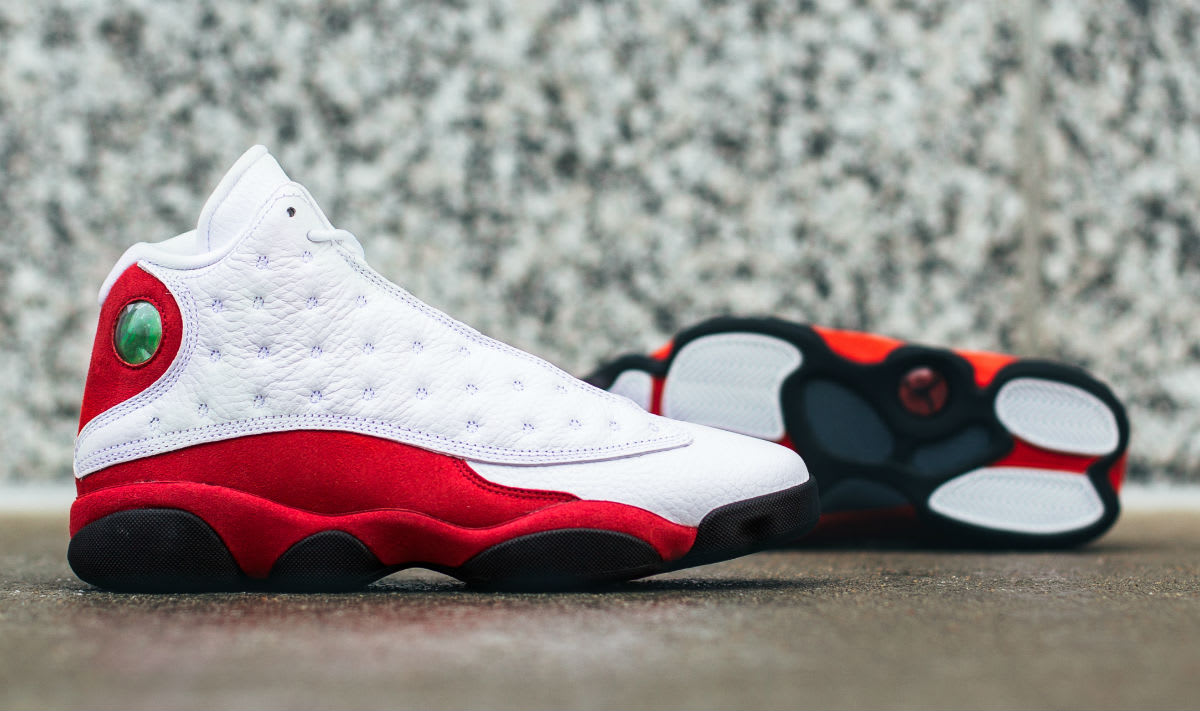 Air Jordan 13 White Red Cherry Release Date Sole 414571-122