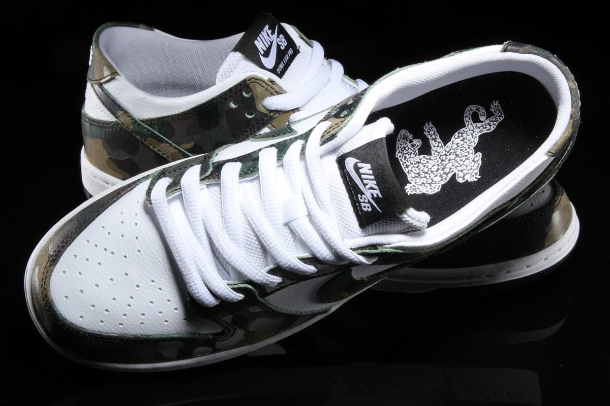 Ishod Wair Camo Nike SB Dunk 854866-331 Top