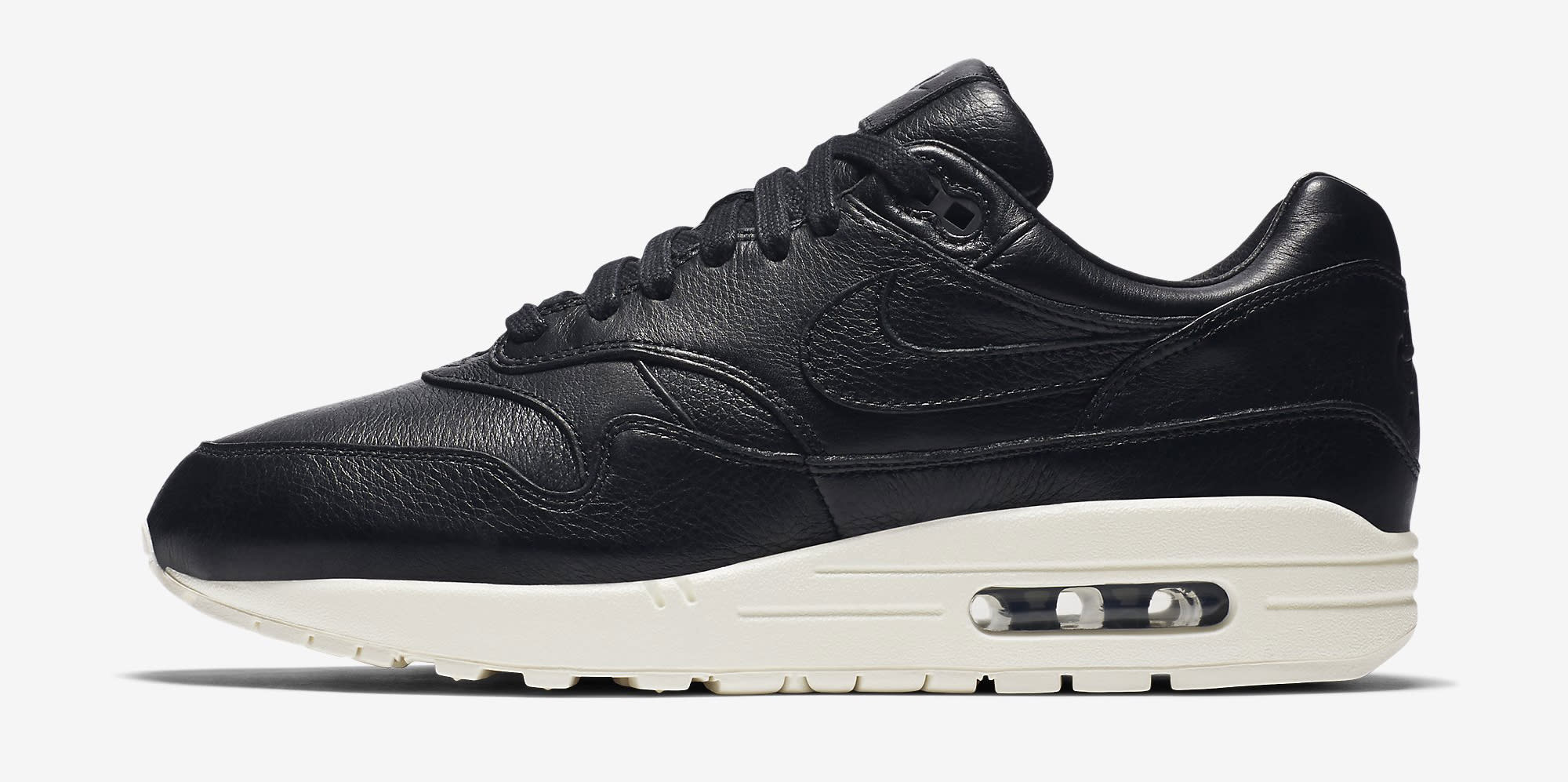 info for d3af2 2ec66 Nike Air Max 1 Pinnacle Leather Black 859554-003 Profile