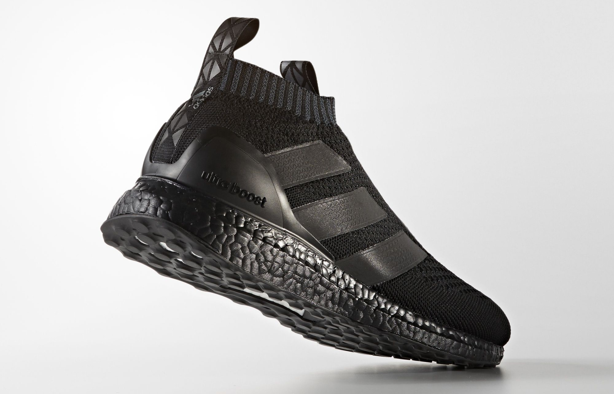 Triple Black Adidas Ultra Boost Pure Control 16 BY9088 Heel