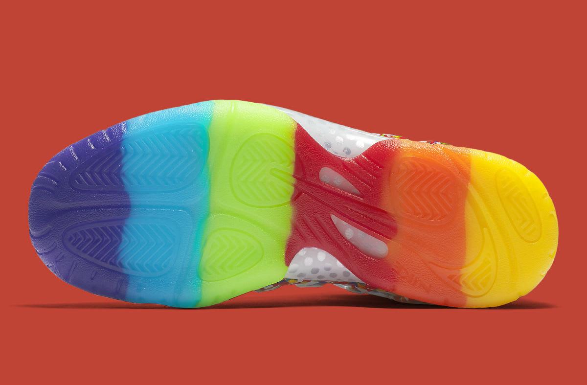 156ed0f9f9f0 Nike Foamposite Pro Fruity Pebbles Release Date Sole 644792-101