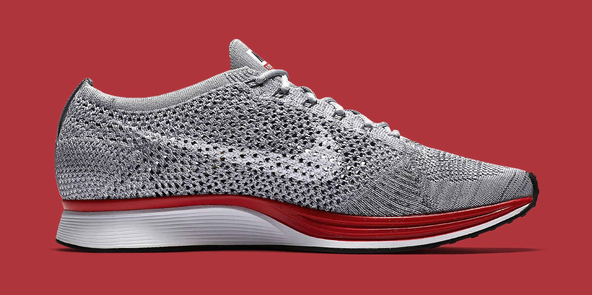 Nike Flyknit Racer Grey Red 526628-013 Medial