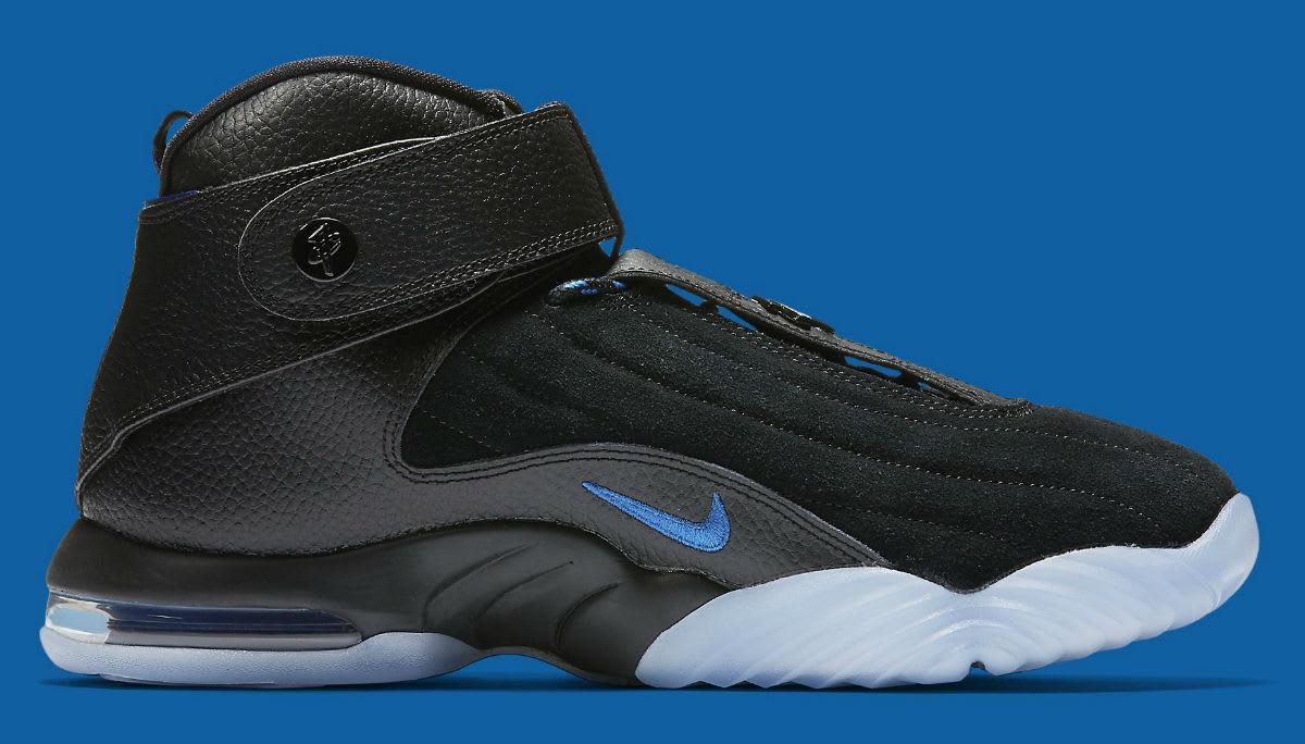Nike Air Penny 4 Black/Blue Release Date Medial 864018-001