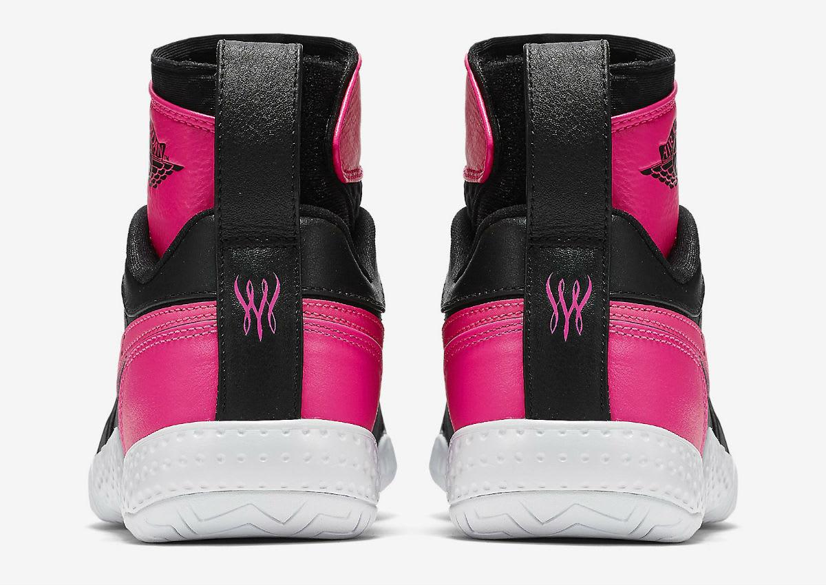 Serena Williams NikeCourt Flare AJ1 Pink Release Date Heel 878458-006