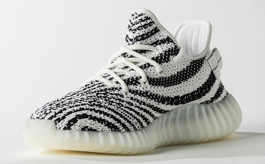 Adidas Yeezy Boost 350 'Zebra' V 2 White / Core Black / Red Size