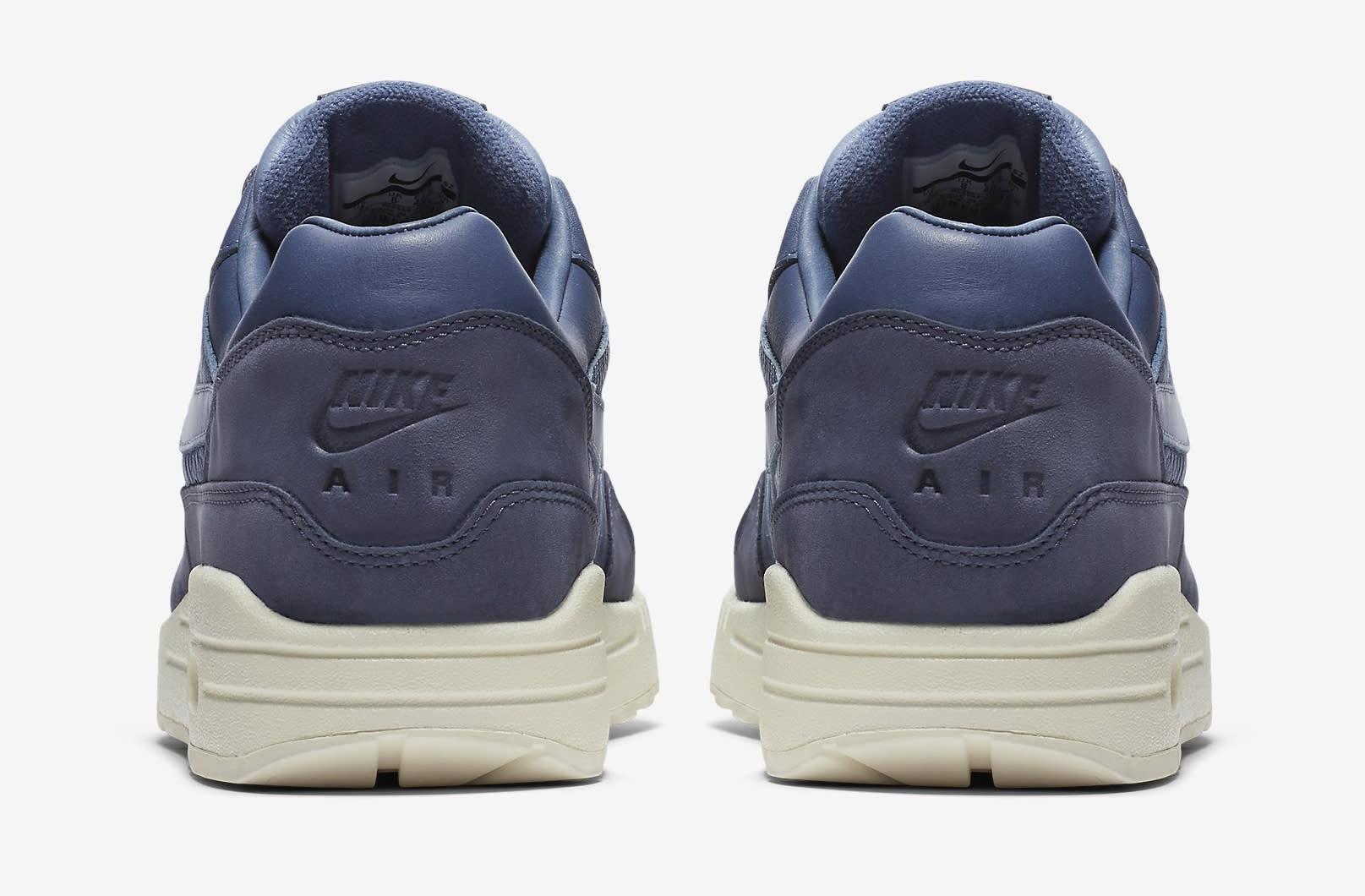 Nike Air Max 1 Pinnacle Leather Ocean Fog Blue Sail 859554-400 Heel