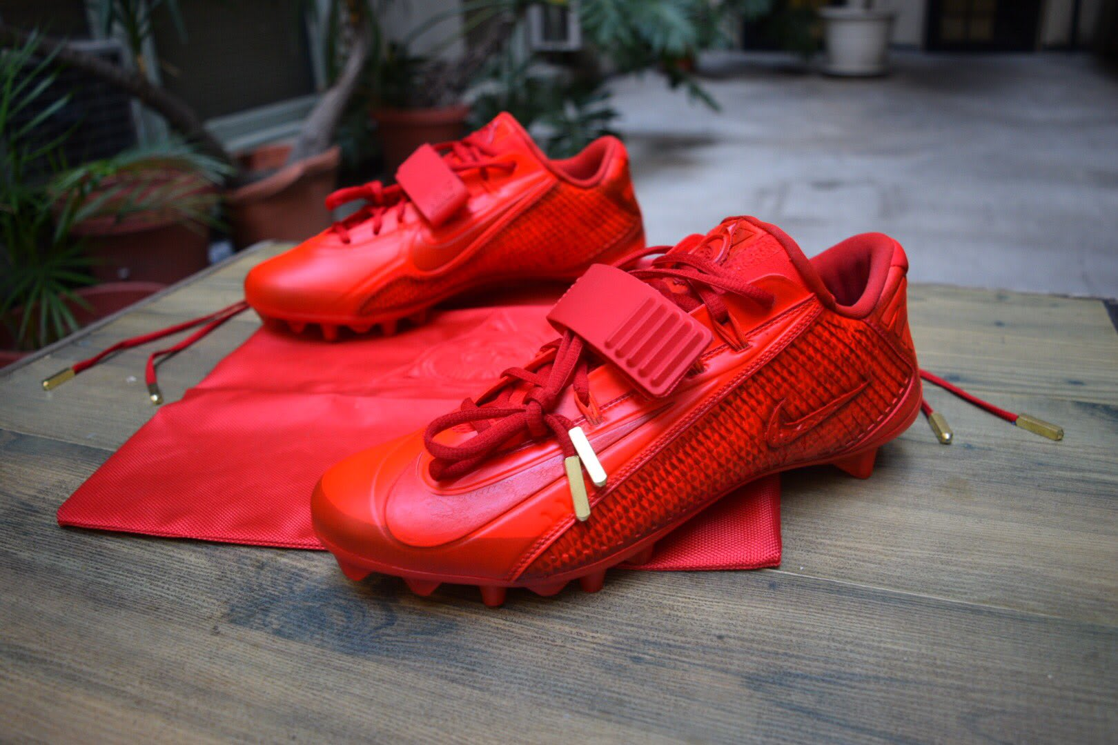 Odell Beckham Kanye West Murakami Graduation Red October Cleats by ...